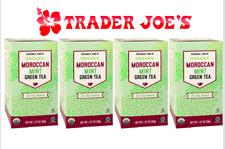 Trader Joe's 4 Organic Moroccan Mint Green Tea Hot or Cold Lemongrass Spearmint