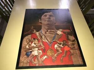 1976 Montreal Olympic Poster - Athletes By Wm. Wrigley Jr Co Very Good Condition