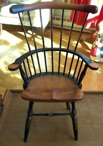 "CHILD'S DOLL COMB BACK WINDSOR ARM CHAIR-15 1/2"" TALL-VG CONDITION"