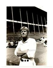 CANDID ROBERT REDFORD 1984, WATCHING BASEBALL PRACTICE, PHOTO FOR PUBLICATION