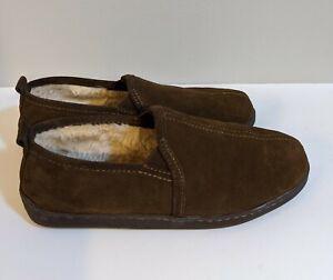 Minnetonka Womens Brown Suede Loafer Slippers Flats 10 Medium  3928