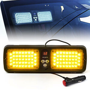 Xprite Amber 86 LED Emergency Warning Visor 12 Flashing Pattern Strobe Light