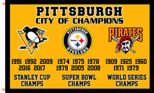 Pittsburgh City of Champions Team Memorable Flag 90x150cm 3x5ft best banner