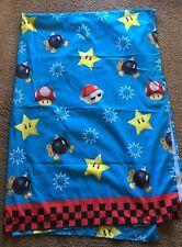 Nintendo Super Mario Brothers Bros Twin Sized Flat Sheet Crafting Craft Fabric