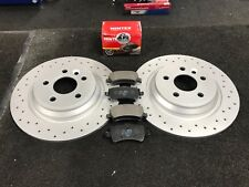 VOLVO V60 D5 R-DESIGN CROSS DRILLED BRAKE DISC BRAKE PADS REAR