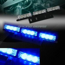 18 LED BLUE CAR TRUCK EMERGENCY HAZARD WARNING FLASH STROBE LIGHT UNIVERSAL 7