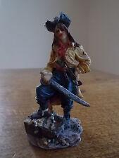"""Pirates des Caraïbes Capitaine Jack Sparrow Pirate résine figure 3.25"""" haute très bon état"""
