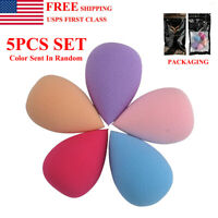 5Pcs Beauty Makeup Foundation Sponge Blender Flawless Buffer Puff Cosmetic Tool