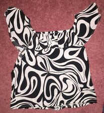 Mary Kate And Ashley Black And White Swirl Top Sz 6/6x Sassy!