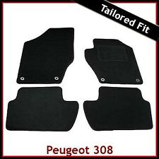 Peugeot 308 Mk1 2007-2013 Fully Tailored Fitted Carpet Car Floor Mats BLACK