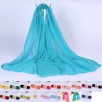 Women Long Candy Colors Soft Cotton Linen Scarf Wrap Shawl Scarves Fashion Stole