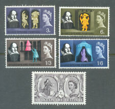 Great Britain-Shakespeare mnh set(1964) -Literature-Plays