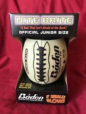 "Baden Nite Brite Glow In the Dark Football Junior Size 11"" New In Box Display"