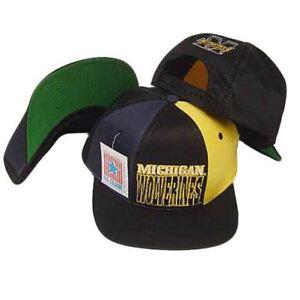 NCAA MICHIGAN WOLVERINES SNAPBACK FLAT BILL VINTAGE HAT