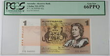 (1979) Australia Reserve Bank $1 Dollar Note R77 SCWPM# 42c PCGS 66 PPQ Gem New