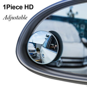 Car Rear View Mirror 360° Rotating Wide Angle Convex Blind Spot Parts Universal.