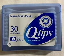 Q-Tips Cotton Swabs Purse Pack Travel Size - Perfect For On-The Go -30 ct BLUE
