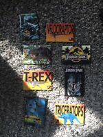 "1993 JURASSIC PARK 2""X3"" (LOT OF 8) PINS UNIVERSAL CITY STUDIOS  New"