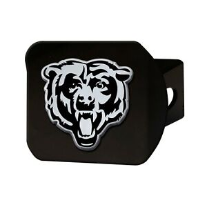 Fanmats NFL Chicago Bears 3D Chrome on Black Metal Hitch Cover Del. 2-4 Days