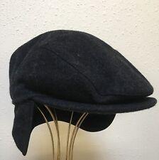26d9e1715a7186 WIGENS Sweden Gray Charcoal Wool Cap w Earflaps Mens size 58 NWOT