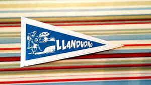 1960's Llandudno Wales Holiday Pennant Classic Car Window Sticker