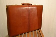 Used Slimline Brown Leather Briefcase/Attaché Case