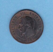 (BR.173) 10 CENTIMES NAPOLÉON III 1857 B ROUEN (TTB-)