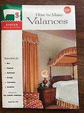 New listing Vintage 1960 Singer Sewing Library How To Make Valances Pb Booklet Pamphlet