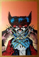 Wolverine Punisher Marvel Comics Poster by Jim Lee