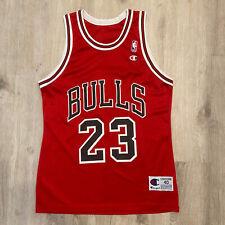 Vintage Champion Michael Jordan Jersey Chicago Bulls NBA Vintage 90s Size 40 Red