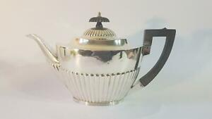 Good Sized Mappin & Webb Georgian Patt HM Sterling Silver Teapot Sheff 1908 499g