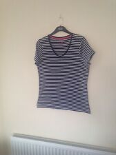 Tu Size20 Navy White Striped T Shirt