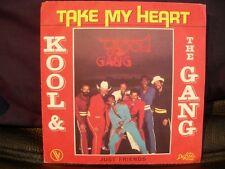 VINYL 45 T – SOUL FUNK – KOOL & THE GANG – TAKE MY HEART + JUST FRIENDS – DELITE