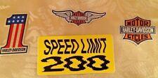 HARLEY DAVIDSON ~ Helmet Stickers Mini Decals ~ Biker Bar Shield Wings Lot