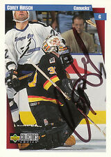 COREY HIRSCH CANUCKS AUTOGRAPH AUTO 97-98 UD COLLECTORS CHOICE #258 *17544
