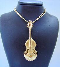 Kette mit Cello Anhänger Halskette Collier 585 Gold 14 kt Damenkette Goldschmuck
