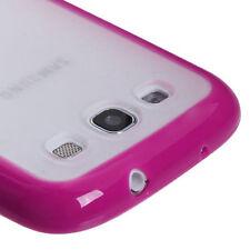 For Samsung Galaxy S III 3 TPU Gel GUMMY Hard Skin Case Phone Cover Pink Clear