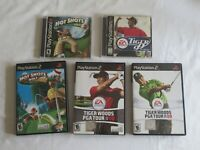 5 Golf Games Lot Playstation 1 2 PS1 PS2 Hot Shots 2 Fore! Tiger Woods 99 08 09