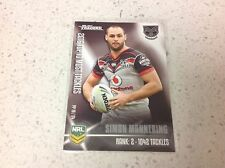 2017 NRL TRADERS PIECES OF THE PUZZLE, PP19/54 SIMON MANNERING, WARRIORS.
