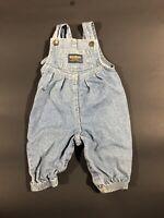 Vintage USA Oshkosh BGosh Cotton Denim Bubble Fit Vestbak Overalls 6/8 Mo USA