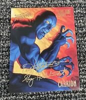 1995 Fleer Ultra Spider-Man Card Carrion #13 Double Signature Gold Foil RARE