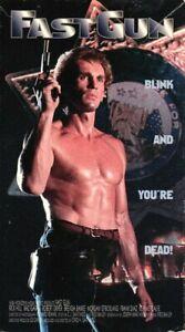 FAST GUN VHS Nothing Good But His Aim 90s Guns Movie RICK HILL Kaz Garas Video