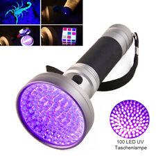 UV Lampe 100LED Taschenlampe Scorpion Bernstein Schwarzlicht Handlampe DE