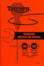 Triumph Pre-unit Motorcycle Manual Speed Twin Thunderbird T100 T120 3T 1956-1962