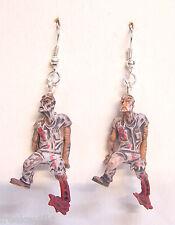 New Walking Dead-like Zombie Planet Rigamortis Rick Mini Figures Dangle Earrings