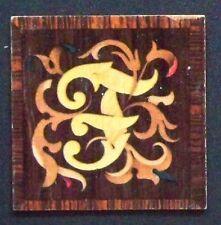 """1932 Garbaty Tarso Holzbilber Wood Tile Cigarette Card """"F"""""""