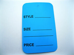 """100   Extra Large  Merchandise Price Tags   1.75""""   X   2.75"""""""