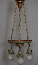Painted Brass Pan Ceiling Light 3 Decorative Sockets