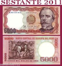 PERU - 5000 5.000 SOLES DE ORO 21.6. 1985 - P 117c   - FDS / UNC