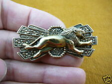 (b-lion-101) Running lion wild king cat big lions pin brass lover